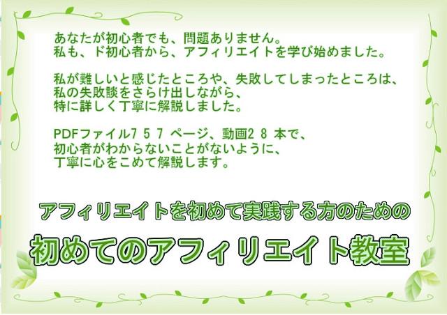 初めてのアフィリエイト教室【ぴょんちぃ先生】