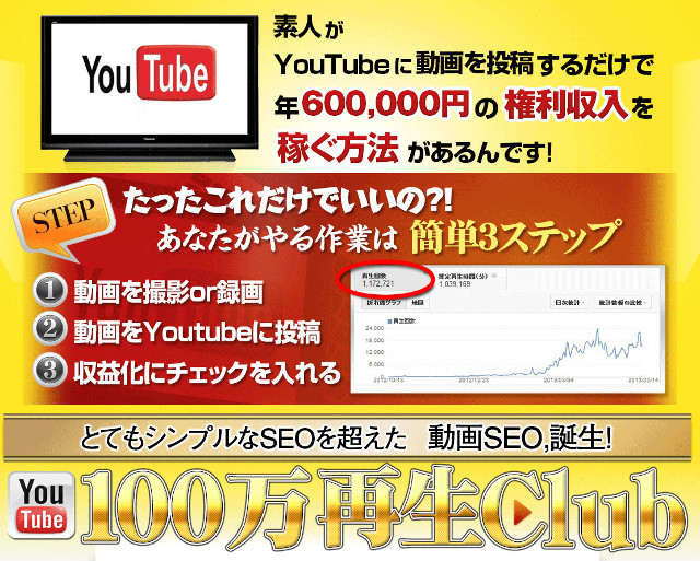 YouTube100万回再生CLUB